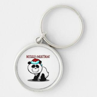 Panda Merry Christmas Keychain