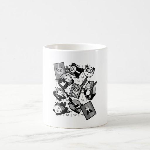 Panda Mix - Black & White Coffee Mugs