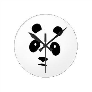 Panda Monium Round Clock