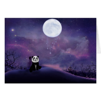 Panda Moon Blank Card