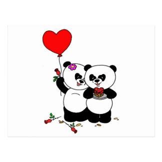 Panda more forever love postcard