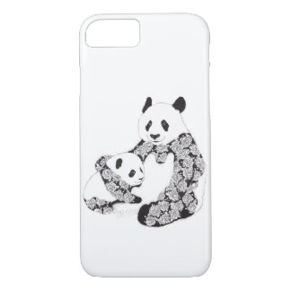 Panda Mother and Cub Illustration iPhone 7 Case