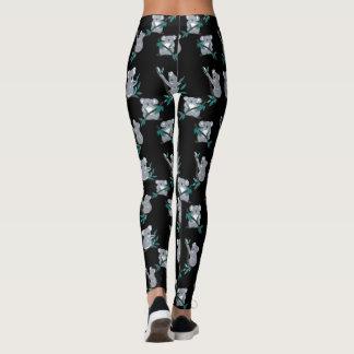 panda motifs on leggings. leggings