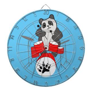 panda musician dartboard