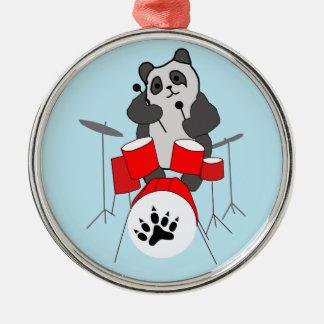 panda musician metal ornament