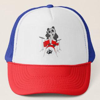 panda musician trucker hat