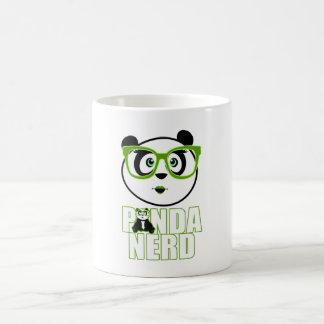 Panda Nerd Girl - Green Coffee Mugs