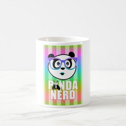 Panda Nerd Girl - Rainbow 2 Mugs