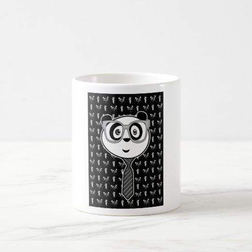 Panda Nerd - Wallpaper (Black & White) Mug