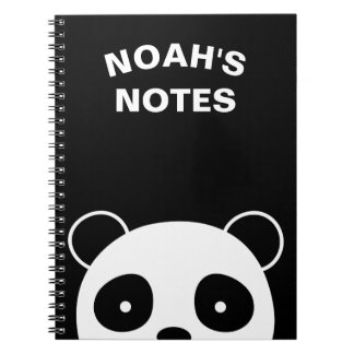 Panda notebook, school notebook
