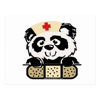 Panda Nurse Postcard