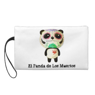 Panda of The Day of The Dead Wristlet