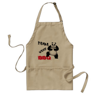 Panda Panda Wants BBQ Apron