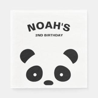 Panda Paper Napkins, Panda Birthday Party Disposable Napkins
