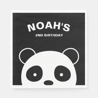 Panda Paper Napkins, Panda Birthday Party Paper Napkin
