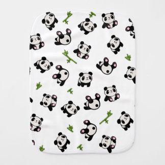 Panda pattern burp cloth