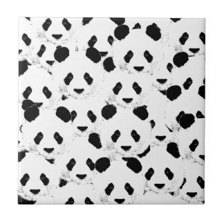 Panda pattern ceramic tile