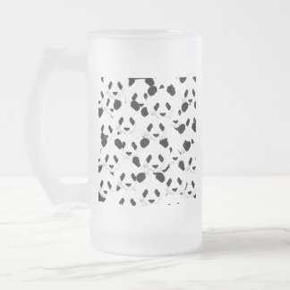 Panda pattern frosted glass beer mug
