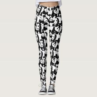 Panda pattern leggings