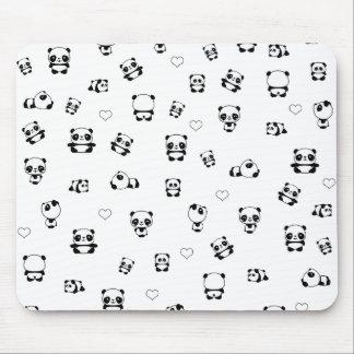 Panda pattern mouse pad