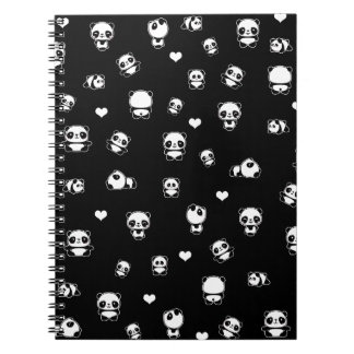 Panda pattern notebooks