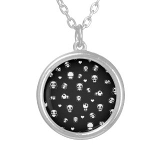 Panda pattern silver plated necklace
