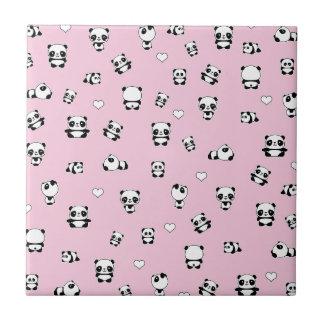 Panda pattern tile