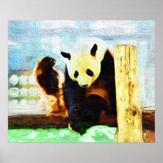 PANDA PAWS ORIGINAL ART Photo Manipulation Poster