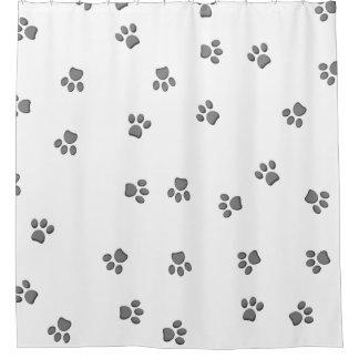 Panda Paws Shower Curtain