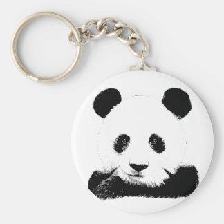 Panda Peeks Out Key Ring