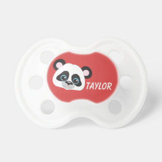 Panda Personalize Red Background Dummy