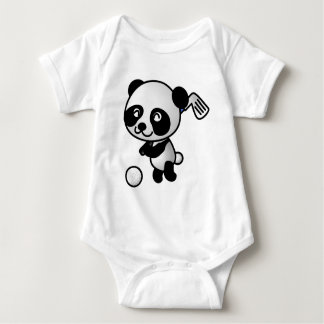 Panda playing golf baby bodysuit