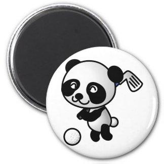 Panda playing golf magnet