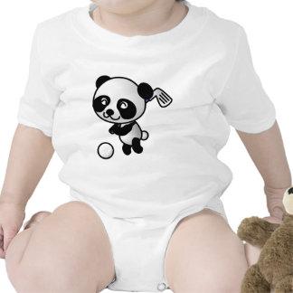 Panda playing golf baby creeper
