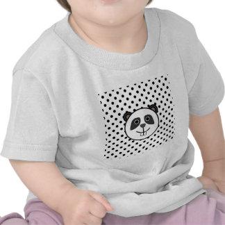 Panda Polka dot dots black white T Shirt