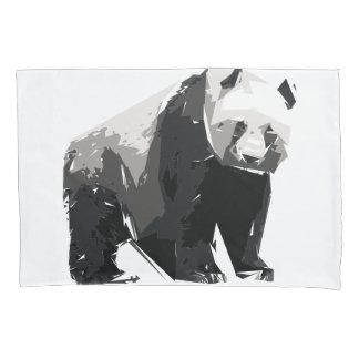 Panda polygon art illustration pillowcase