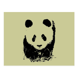 Panda Pop Art Postcard