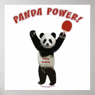 Panda Power Ping Pong Poster
