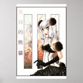 Panda Puff Posters