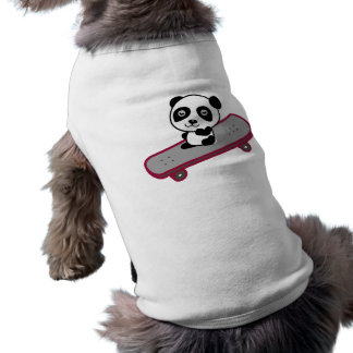 Panda riding on skateboard shirt