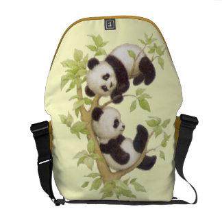 Panda s Playing in a Tree Messenger Bag