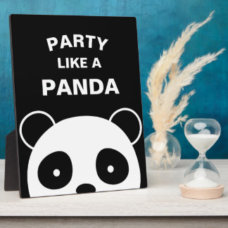 Panda Sign, Panda Decorations Plaque