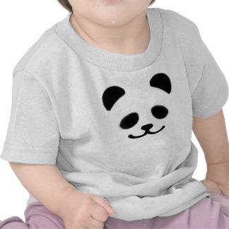 Panda Smiley Black Tshirt