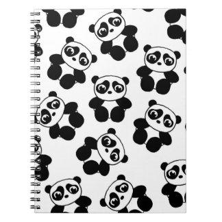 Panda Spiral Notebooks