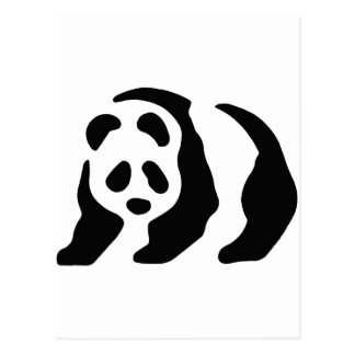 panda stencil postcards