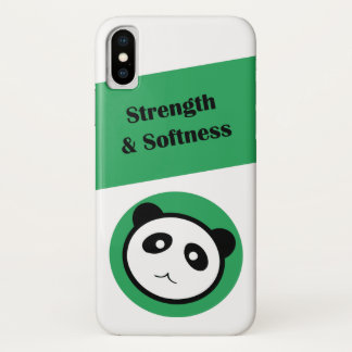 Panda Strength & Softness iPhone X Case