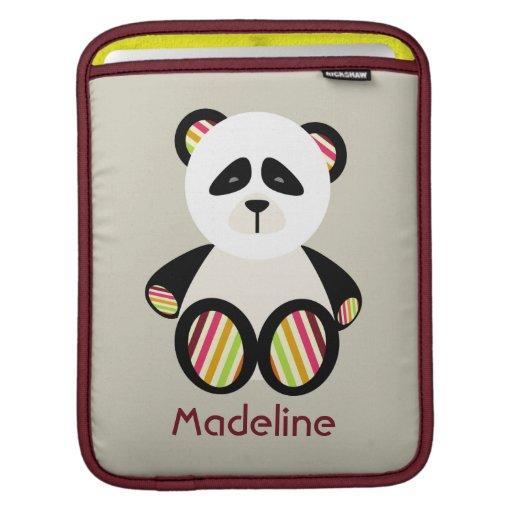 Panda & Stripes Rickshaw Sleeve iPad Sleeve