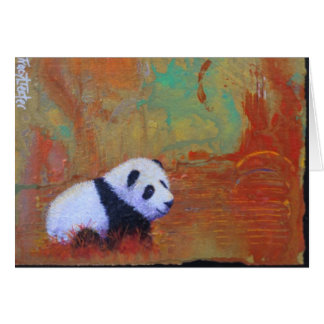 Panda Sunset Card