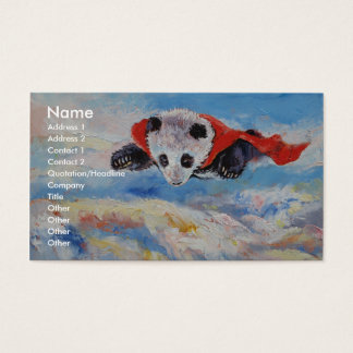 Panda Superhero Business Card