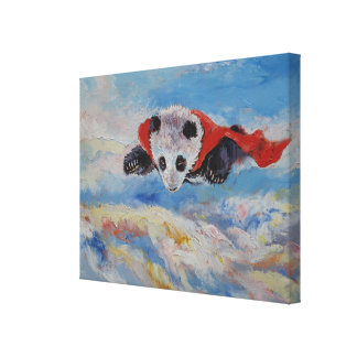 Panda Superhero Gallery Wrapped Canvas